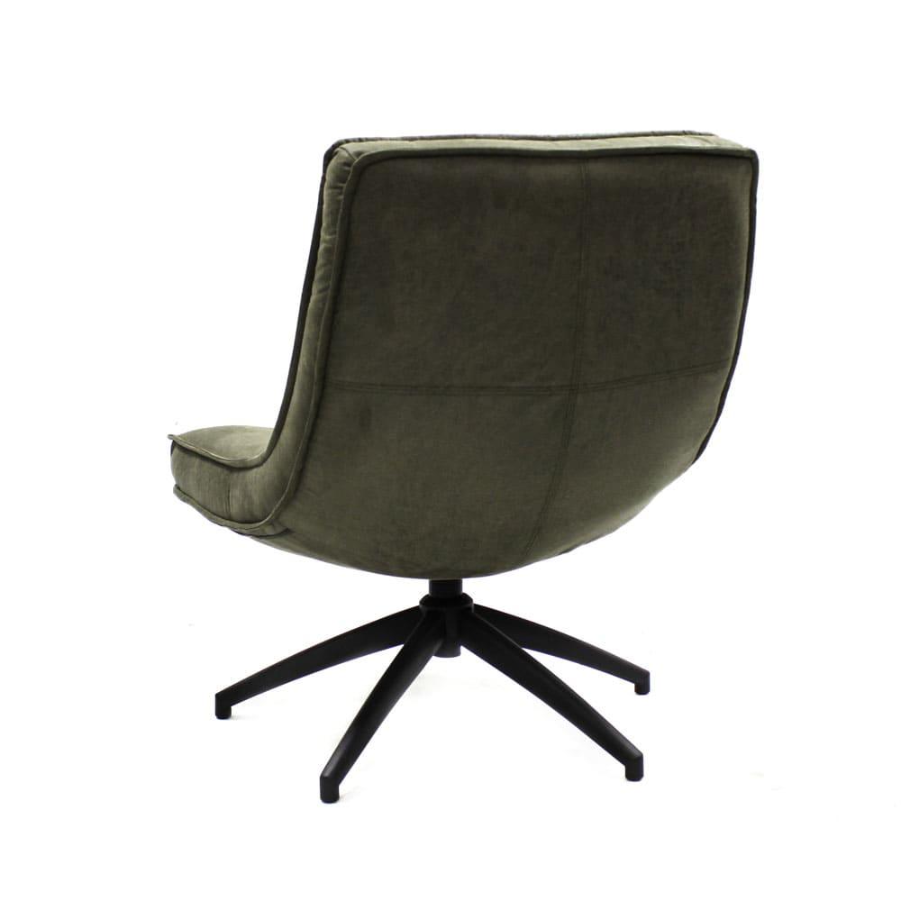 Industriële fauteuil Joost groen